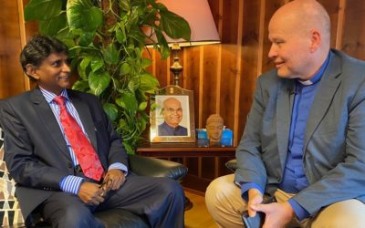 Torp møter Indias ambassadør i «Hovedstaden»